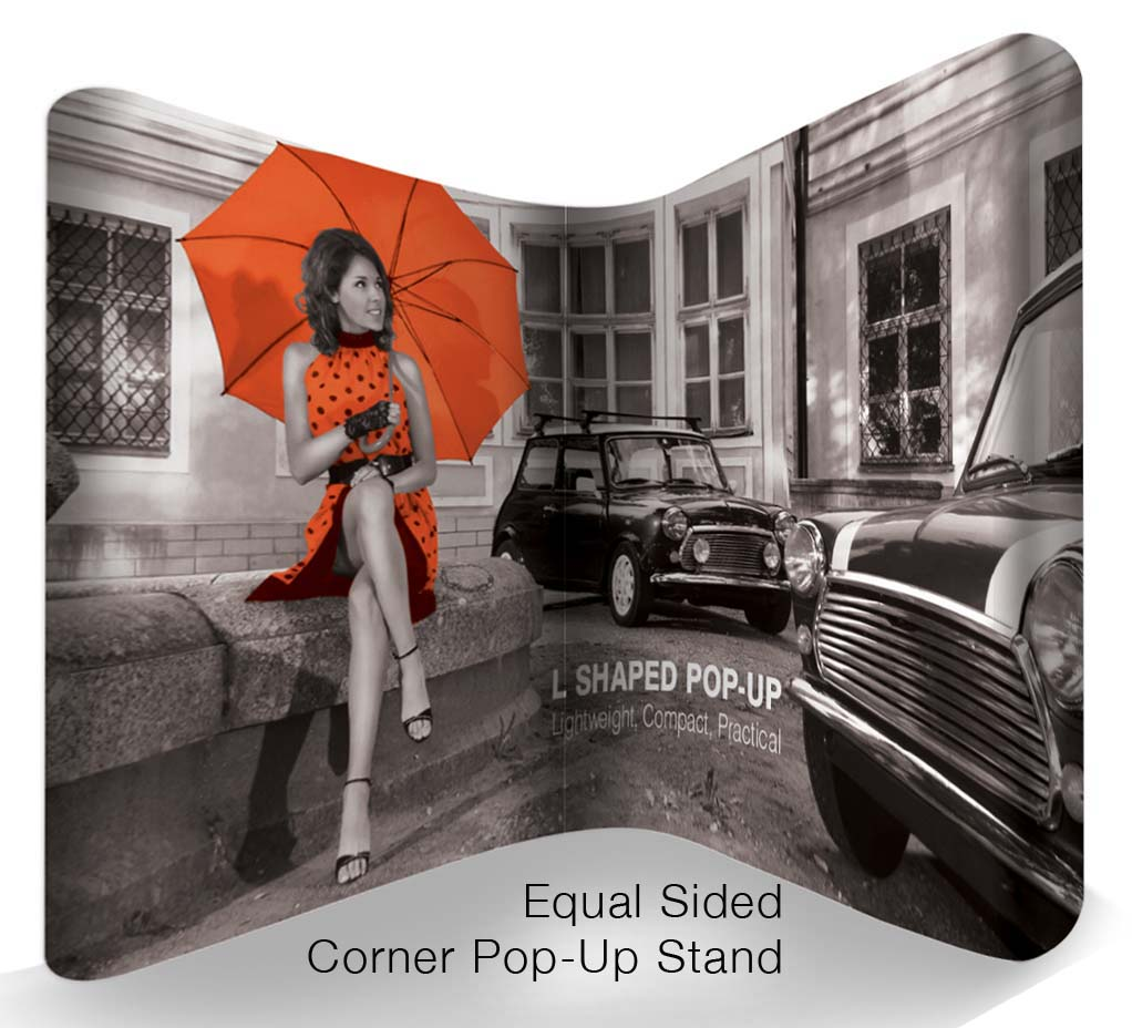 Corner Exhibition Stands Up : L shaped pop up systems